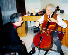 Raphael Sommer with Paul Tortelier
